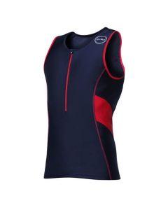 ZONE3 Activate Top Black Red vīriešu triatlona tops