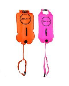 ZONE3 Swim Buoy Dry Bag 28l Orange Pink drošības boja