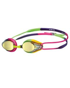 ARENA Tracks Mirror Racing Goggles Violet/Fuschia/Green