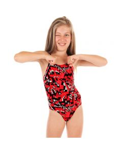 FUNKITA Diamond Back One Piece Atari Attack meiteņu peldkostīms