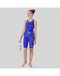 MARU Girl's Space Star Pacer Legsuit Blue