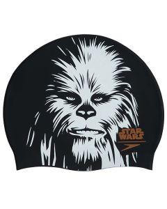 SPEEDO Star Wars Chewbacca Adult Swim Cap Black/White/Orange silikona peldcepure