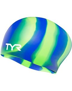 TYR Long Hair Wrinkle Free Swim Cap-Mint