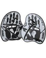 ARENA Vortex Evolution Hand Paddles Silver/Black
