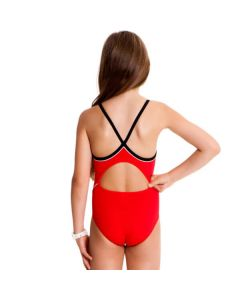 FUNKITA Diamond Back One Piece Still Red meiteņu peldkostīms